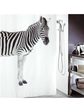 New Style Unique Amazing Zebra Printing Shower Curtain