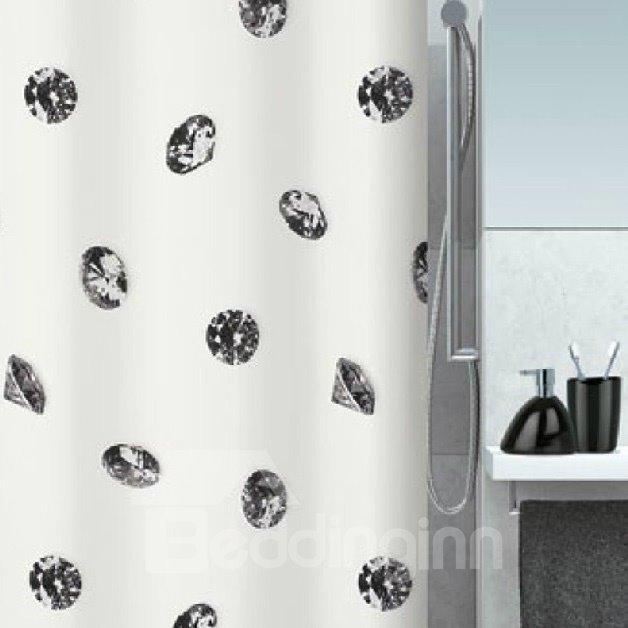 New Style Unique Black Diamond Printing Shower Curtain