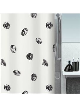 New Style Unique Black Diamond Printing Shower Curtain