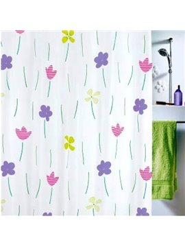 High Quality Lovely Elegant Flora Printing Shower Curtain