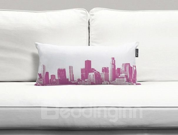 Creative Modern City Print Full Cotton Bed Pillow