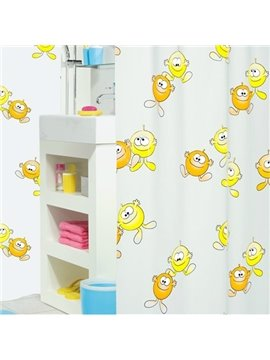 New Arrival Cute  Printing Concise Design Shower Curtain