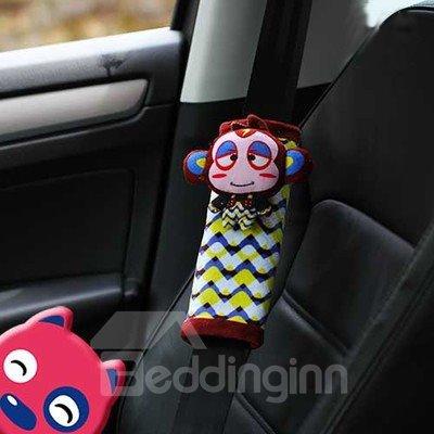 Creative Monkey Lulu Cartoon 3D Cotton Seat Belt Cover