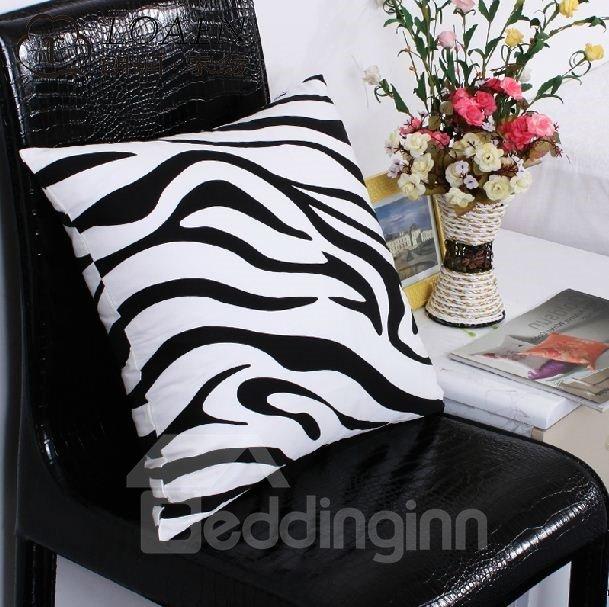 Fashion Adorable Zebra Print Super Soft Satin Throw Pillow