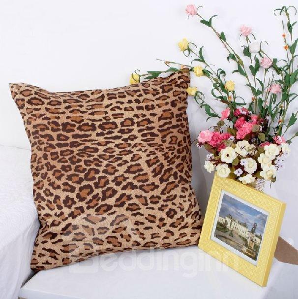Fashion Adorable Leopard Print Comfortable Satin Throw Pillow