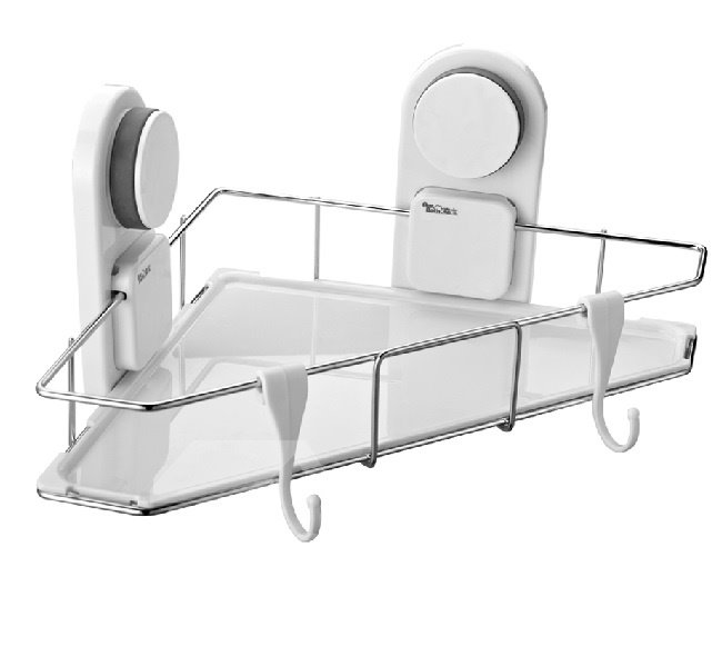 New Arrival Unique Sucking Stainless Steel Bathroom Shelf