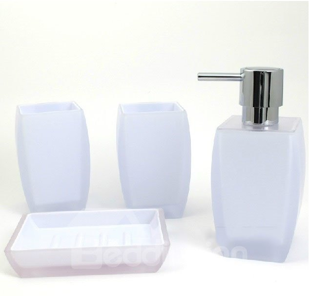 High Class Fashion Elegant Pure Color Four-piece Bathroom Accessory