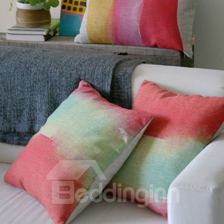 Wonderful Adorable Gradient Watercolor Throw Pillow