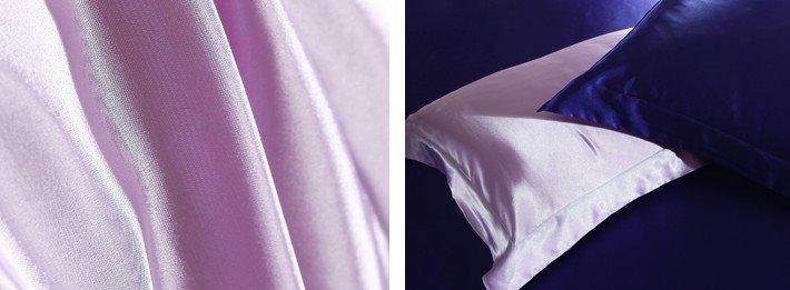 Luxury Purple and Dark Blue 4-Piece Cellosilk Duvet Cover Sets