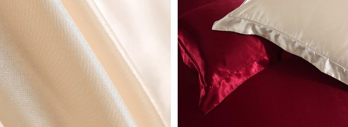 Noble Camel and Red 4-Piece Cellosilk Duvet Cover Sets