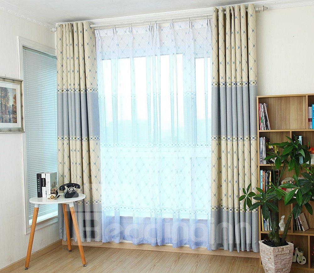 Pretty Elegant Concise Pattern Custom Sheer Curtain