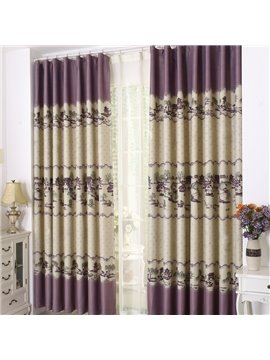 New Style Bridge over Flowing Stream Grommet Top Custom Curtain