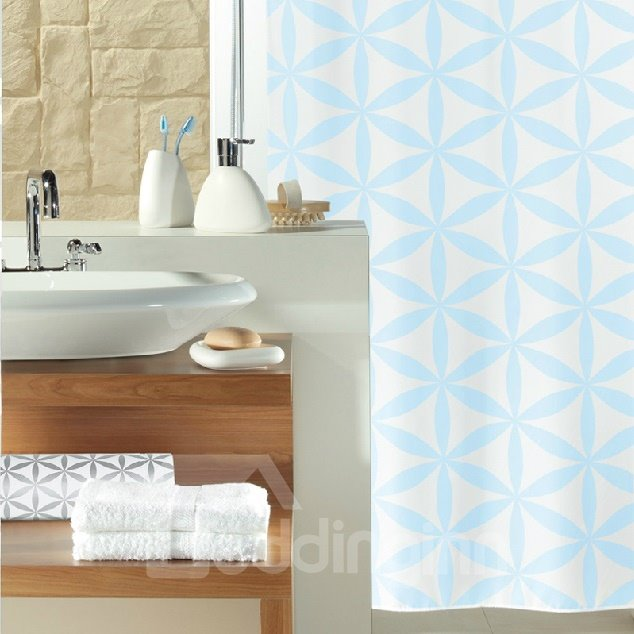 High Quality Fashion Blue Polyester Shower Curtain