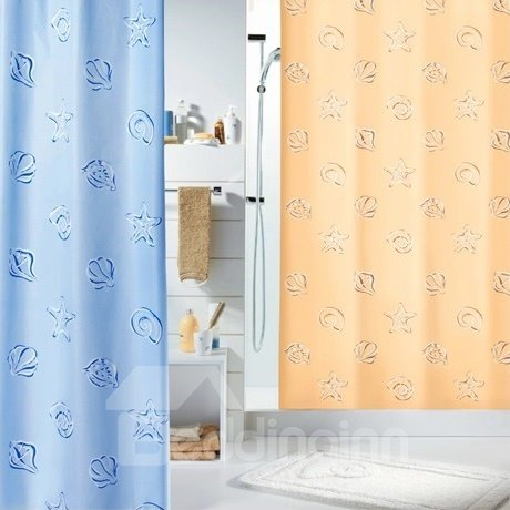 High Quality  Fabulous Starfish And Shell Printing Shower Curtain