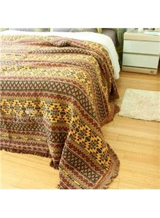 Fancy Vibrant Bohemia Style Stripe Pattern Blanket
