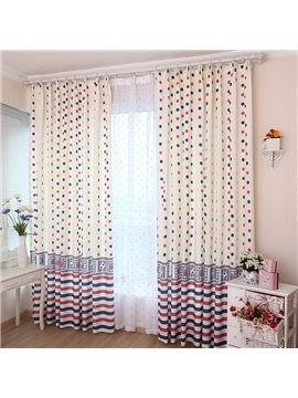Top Selling Lovely Dots Living Room and Bedroom Curtain
