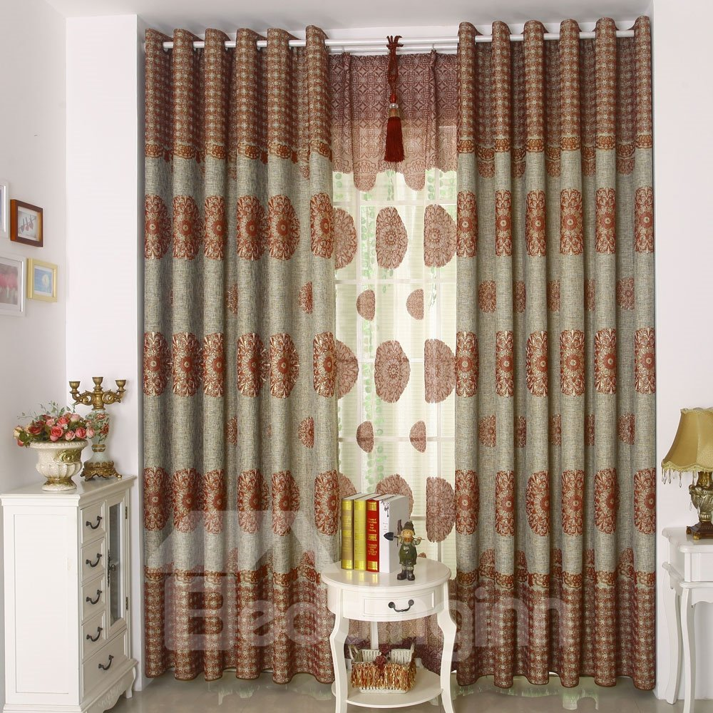 High Class Contemporary Design Grommet Top Custom Made Curtain