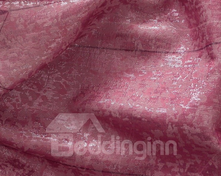 High Quality Super Elegant Purple Reed Printing Grommet Top Two-piece Custom Curtain