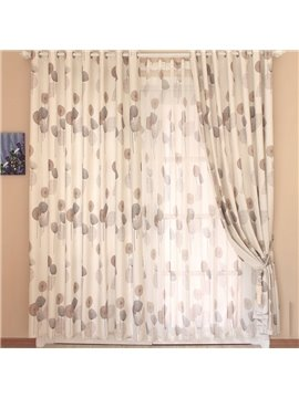 High Quality Super Elegant Dandelion Printing Grommet Top Custom Curtain
