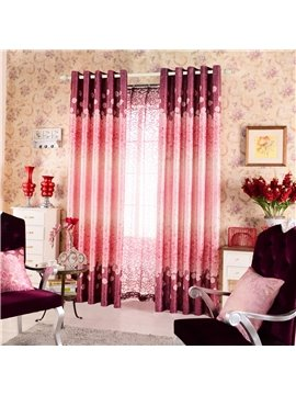Top Class Romantic Shining Rose Printing Custom Curtain