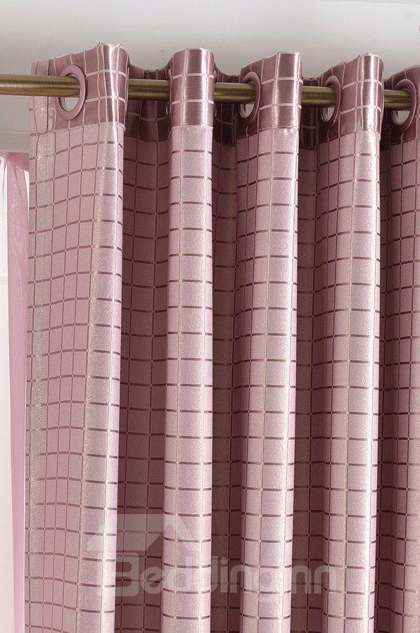New Style Pink Mauve Short Plush Grommet Top Custom Curtain
