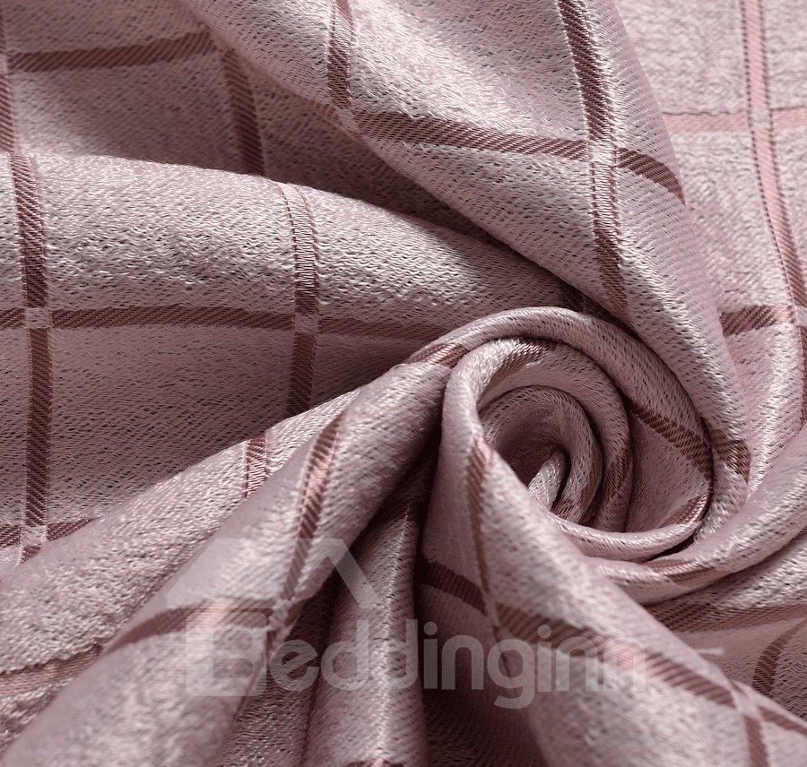 New Style Pink Mauve Short Plush Grommet Top Custom Curtain