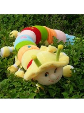 Quality Colorful Cute Carpenterworm Shape Pillow