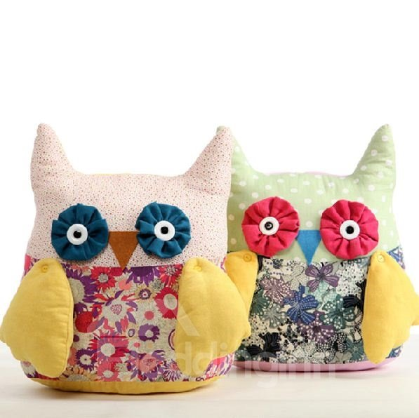 Adorable & Fancy Fashion Cute Owl Pattern Plush Pillow