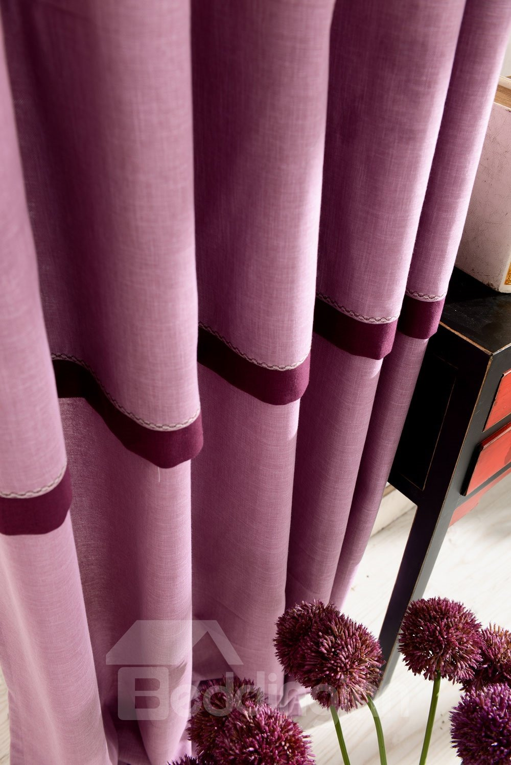 Top Class Elegant Lovely Pink Cinderella Grommet Top Two-piece Custom Curtain