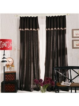 Top Class Elegant Coffee Grass Lawn Design  Double Pinch Pleat  Curtain