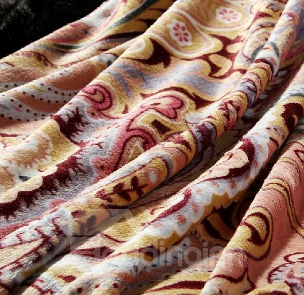 Enticing Most Terrific Fashion Paisley Soft Blanket