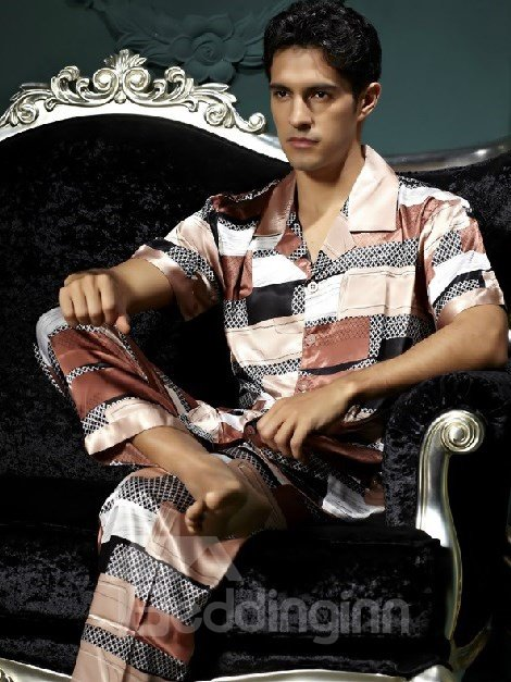 New Style Fashion Elegant Short Sleeve Sleepwear for Man