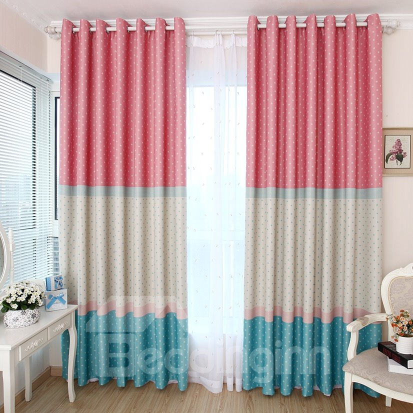 New Style Wonderful Cinderella Shading Grommet Top Two Piece Custom Curtain