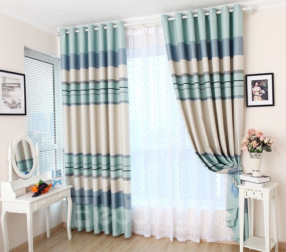 Wonderful Leisure Time Two Pieces Custom Sheer Curtain