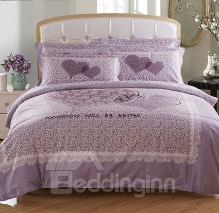 Tomorrow Will Be Better Print 4-Piece Princess Duvet Cover Sets
