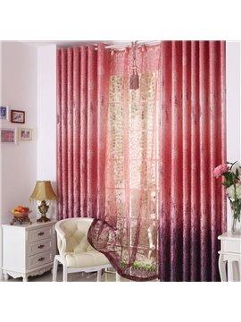 Romantic Red Lavender Pattern Custom Grommet Top Curtain