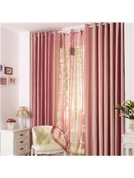 Vibrant Pink Mauve Grommet Top Custom Curtain