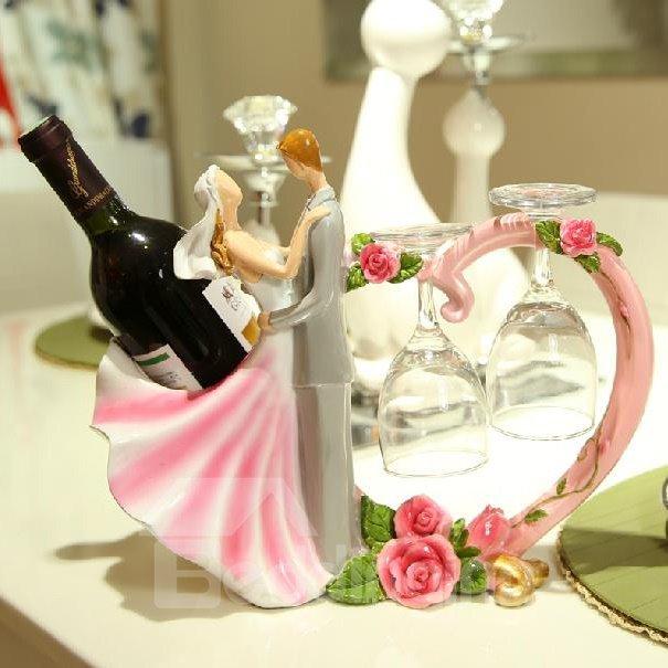 New Style Wonderful Romantic Wedding Pink Wine Rack