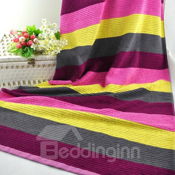 Unique Fabulous Colorful Stripe Full Cotton Bath Towel