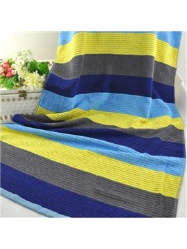 Attractive Fabulous Colorful Stripe Full Cotton Bath Towel