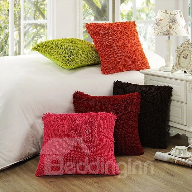 Terrific Luxury Candy Color Soft Plush Throw Pillow