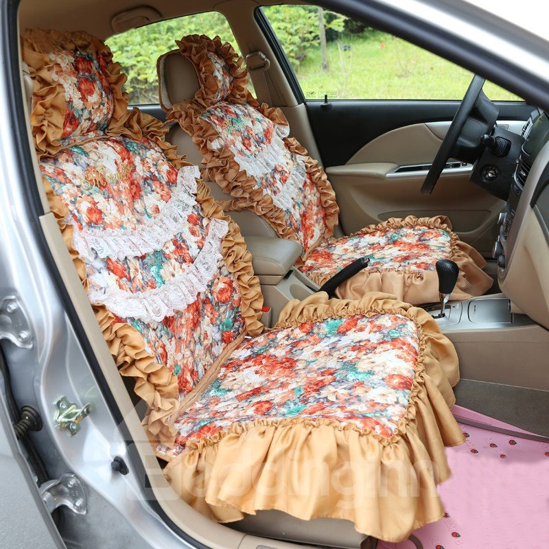 New Style Lace Border and Flower Pattern Car Seat Cover - beddinginn.com