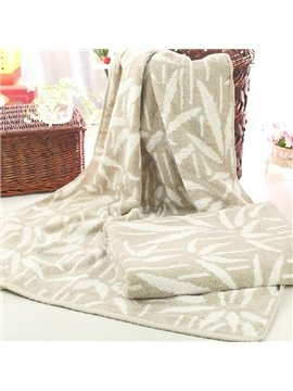 High Quality Elegant Leaves Pattern Full Cotton Bath Towel