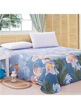 Magnificent Adorable Flowers Print Full Cotton Sheet