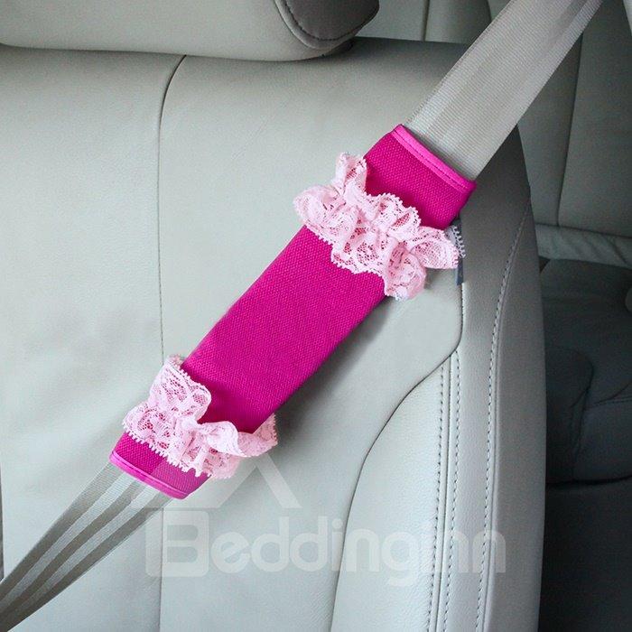 Fantastic A Pair Lace Stripe Pattern Car Seat Belt Cover