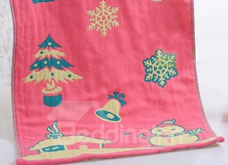 High Quality Merry Christmas Pattern Christmas Gift Towel