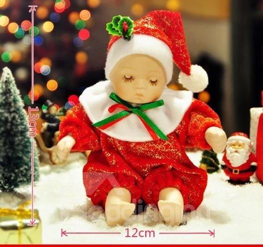New Arrival Lovely Doll Design Jingle Bells Song Christmas Gift  Music Box