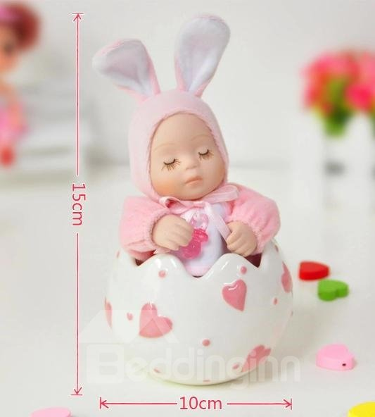 Pink Rabbit And Heart Design Cradlesong Music Box