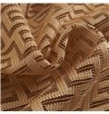 Modern Concise Coffee Color Polyester Grommet Top Curtain
