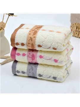 New Arrival Lovely Umbrella Printing Full Cotton Towel